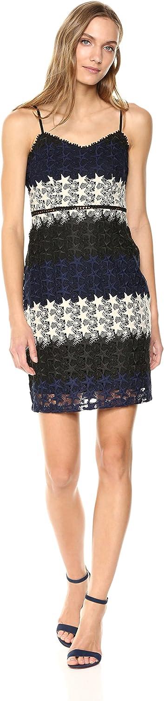 bebe Womens Multi-Colored Star Lace Mini Dress