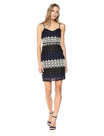 27a5e260930254 bebe Women's Multi-Colored Star Lace Mini Dress at Amazon Women's Clothing  store: