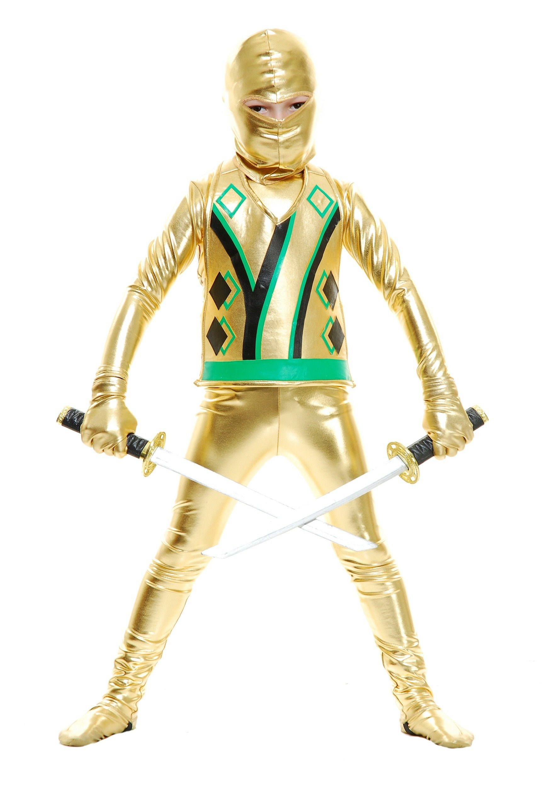 Big Boys' Gold Ninja Avengers Series III Costume - XS