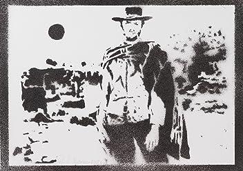 moreno-mata Clint Eastwood Gli Spietati Handmade Street Art - Artwork - Poster