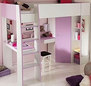 Parisot 2248lsur Set Möbel Kinderzimmer U2013 Mademoiselle Weiß Megev Holz