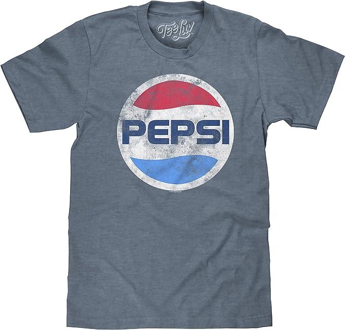 SALE Herren T-Shirt ORIGINAL PEPSI Blau Kurzarm Retro Stylisch Gr S M L XL