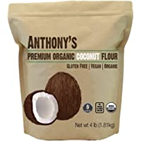 Organic Coconut Flour (4 lb) by Anthony's, Certified Gluten-Free, Non-GMO & Kosher