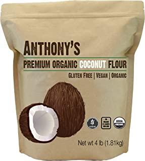 product image for Anthony's Organic Coconut Flour, 4 lb, Batch Tested Gluten Free, Non GMO, Vegan, Keto Friendly