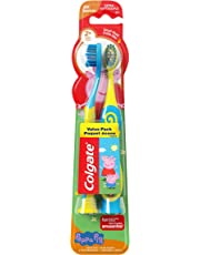 Colgate Kids Extra Soft Toothbrush with Suction Cup, Peppa Pig, 2 Count