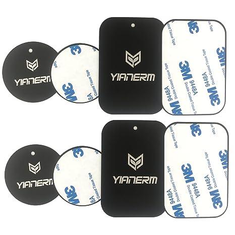 Placa de metal de repuesto para soporte de imán de montaje, para teléfonos móviles o