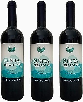 PUNTA DE LAS OLAS Vino tinto Crianza 2015 Ribera del Duero 100% Tempranillo Caja de 3 botellas X 75 cl: Amazon.es: Alimentación y bebidas
