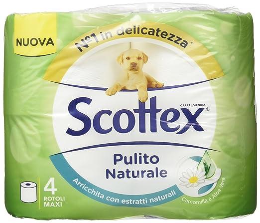 2 opinioni per Scottex Carta Igienica Pulito Naturale- 4 Rotoli