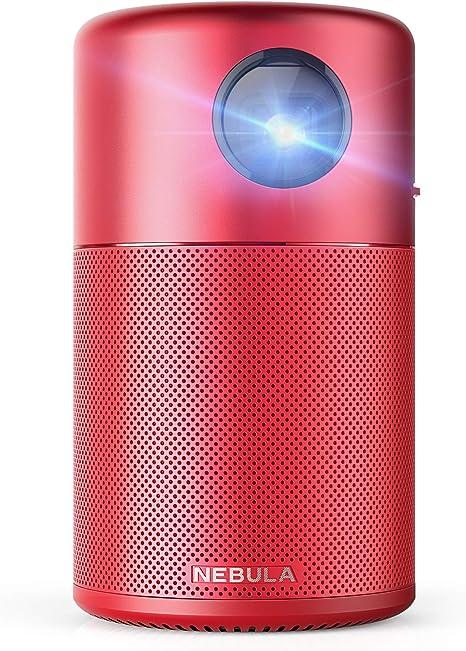 Nebula Capsule, por Anker, Smart WiFi Mini Proyector, Rojo, 100 ...