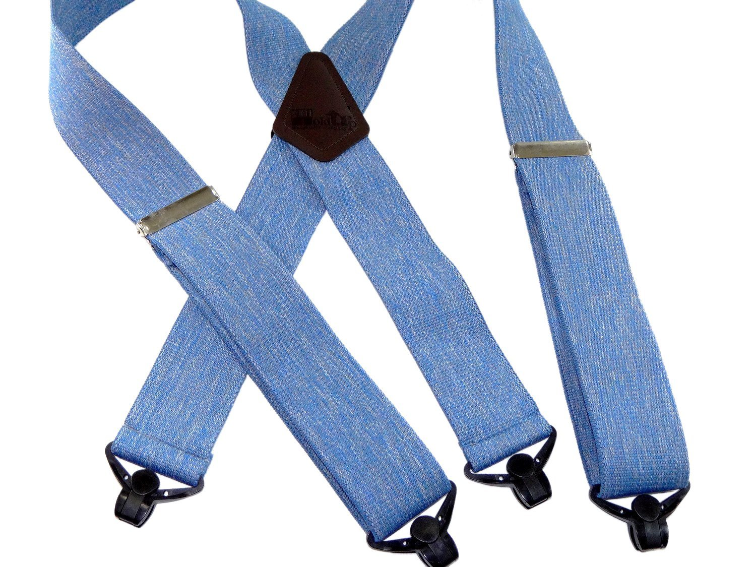 Holdup Suspender brand top quality Blue Jean colored 2'' Wide Work Suspenders with Jumbo Patented Gripper Clasps