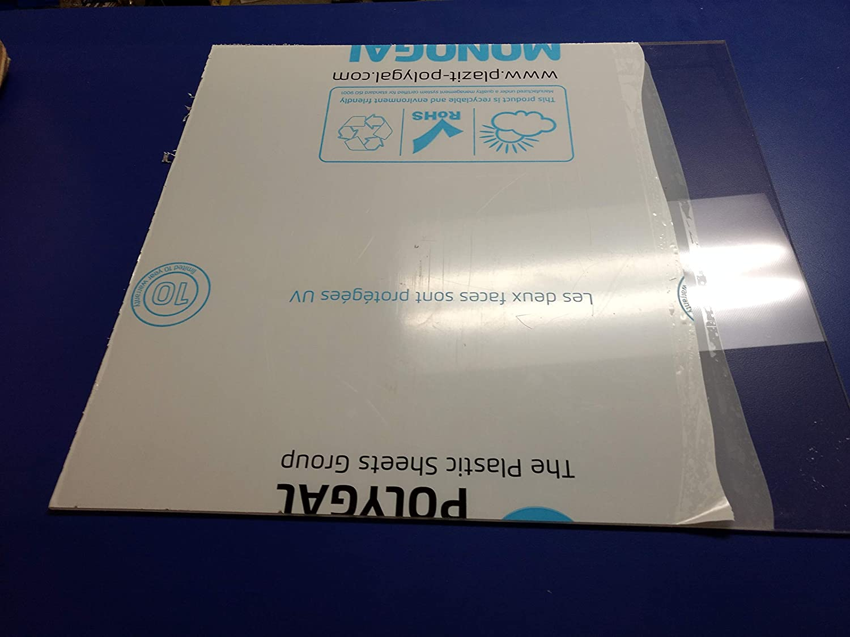 """1//4/""""  x 24/"""" x 48/"""" Lexan Makrolon Polycarbonate Sheet  Clear  0.250"""""""