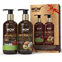 WOW Apple Cider Vinegar Shampoo WOWsome Twosome Hair Care Package, 600ml