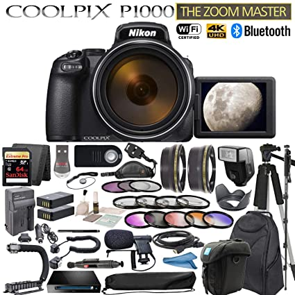 Nikon COOLPIX P1000 125x Optical Zoom Digital Camera Premium Bundle  [International Model]