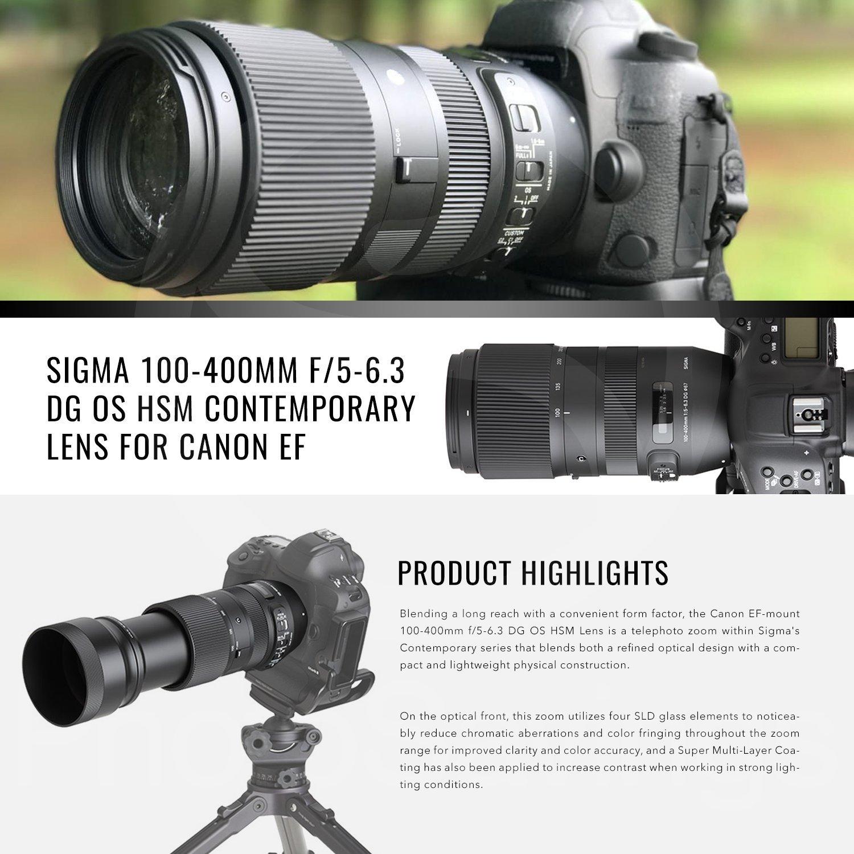 Sigma - Lente para cámara Canon EF (100 - 400 mm, f/5: Amazon.es ...