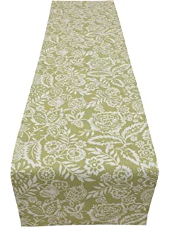 Prestigious Textiles Polly Sage Green Cream Fully Lined Floral Table/bed/Wedding  Runner Home