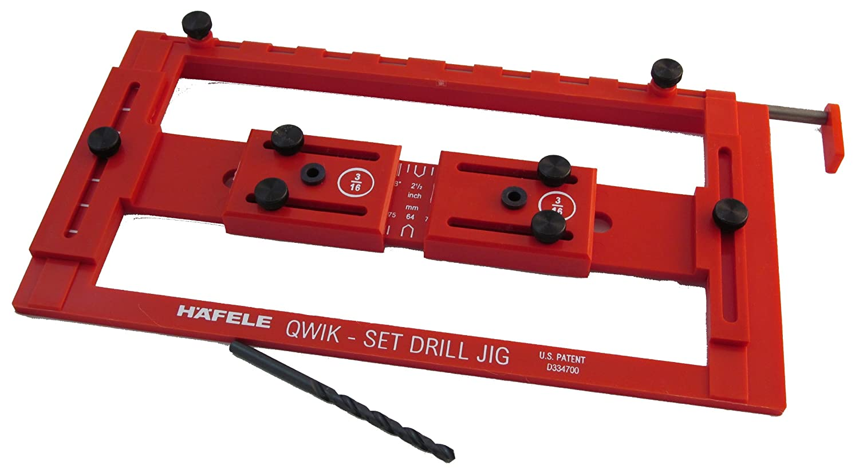 Hafele - Quick-Set Drilling Jig for Handles - Cabinet Jigs ...