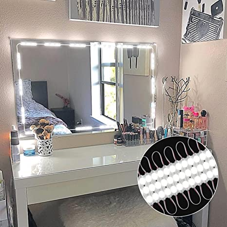 Makeup Vanity.Penson Co Mll 5730 00 Upgraded Vanity Makeup Kit 60 Leds 9 8ft Diy Make Light For Cosmetic Mirrors With Remote Control And Power Supply Version