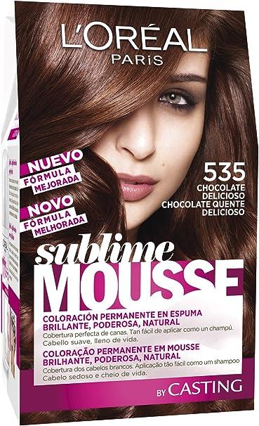 LOréal Paris Sublime Mousse Coloración Permanente, Tono: 535 ...