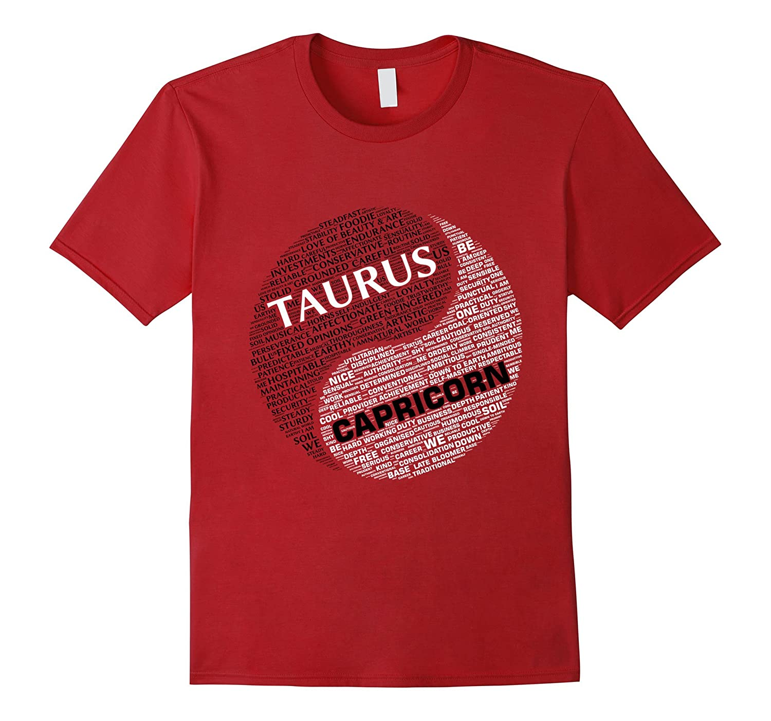 Zodiac Facts shirt: Men & Women Taurus and Capricorn T-shirt-TH