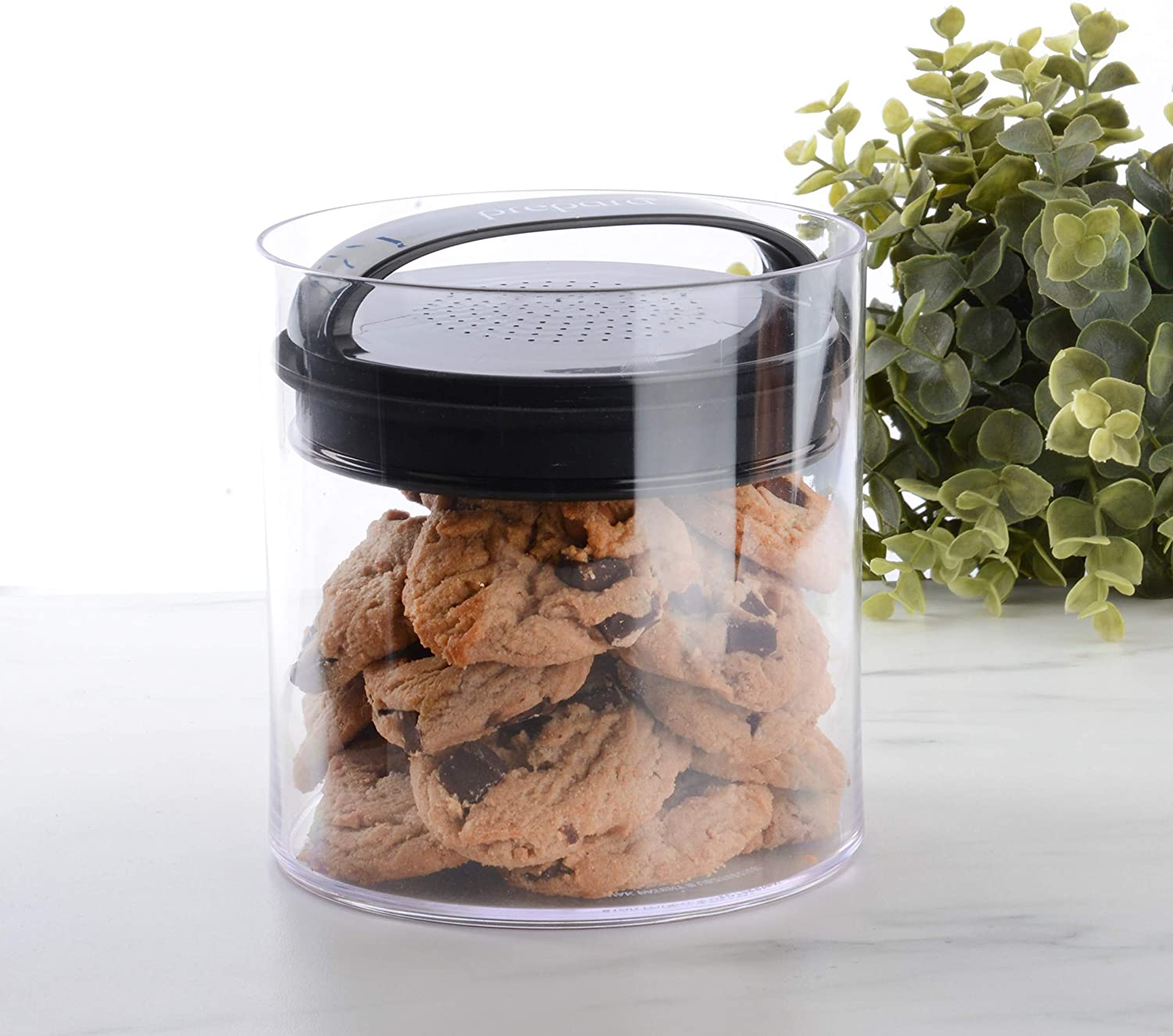 Evak Fresh Airless Storage Canister, Patented & Designed in USA, Large/Short (57.6 Ounce, 7.2 cup Capacity)