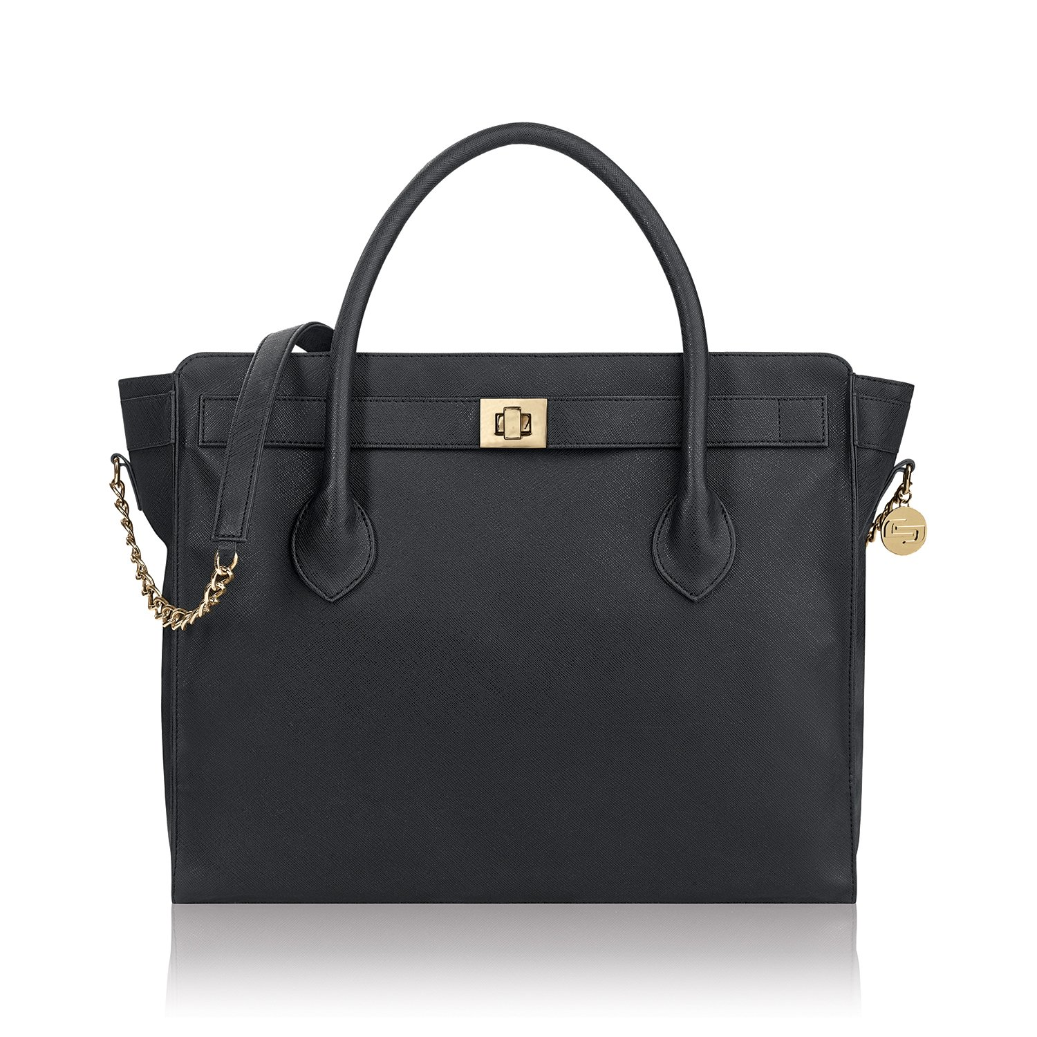 Solo Madison Tote Bag with Laptop Compartment, Black