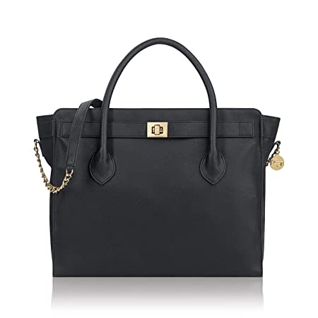 91c32daae7f5 Amazon.com   Solo Madison Tote Bag with Laptop Compartment, Black   Travel  Totes