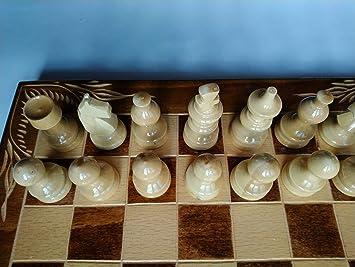 Hecho a mano Nueva Pieza de ajedrez de Color marrón Avellana, Caja ...