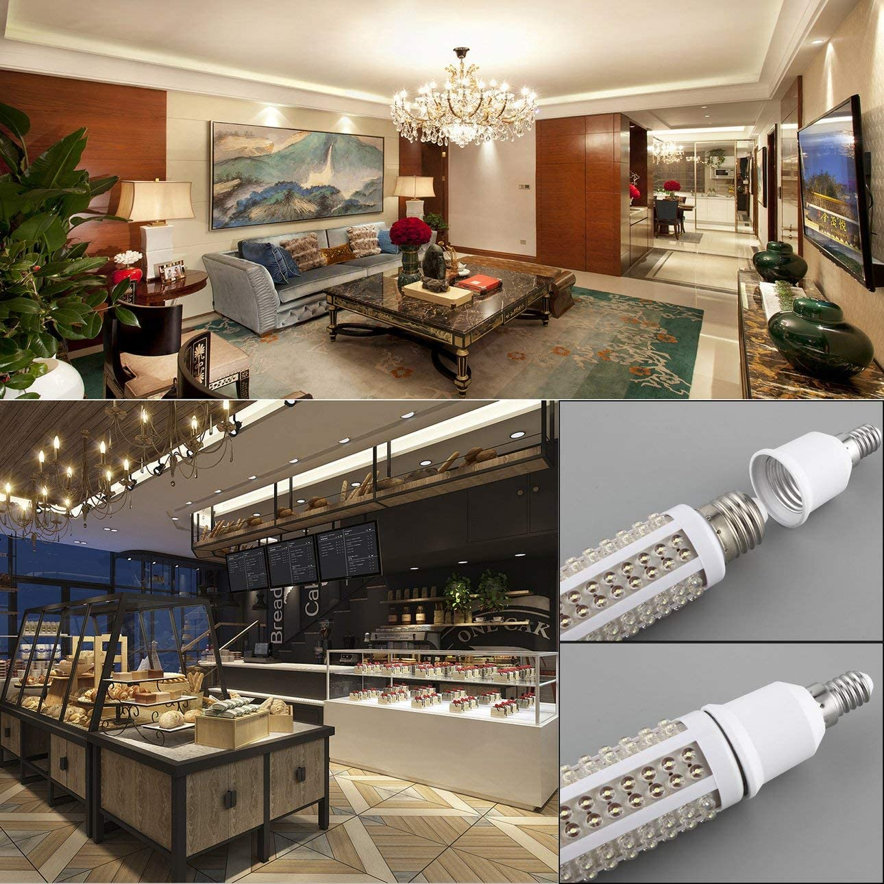 Lichtzubeh/ör tragbar langlebig Liaght-Adapter Celerhuak E14 auf E27 Lampen-Halterung professionell
