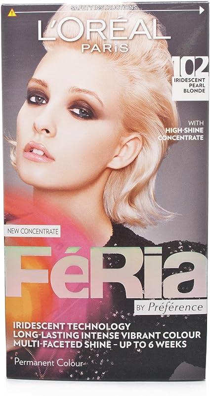 LOreal Feria 10.21 - Tinte de color rubio perla iridiscente ...