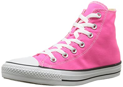 7a726b65153 Image Unavailable. Image not available for. Color  Womens Converse All Star  Hi High Top Chuck Taylor Chucks Trainers - Pink ...