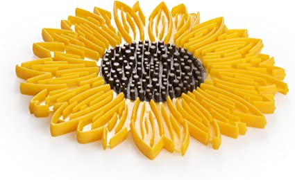 Silicone Sunflower Counter Protector, 6-Inch, Yellow