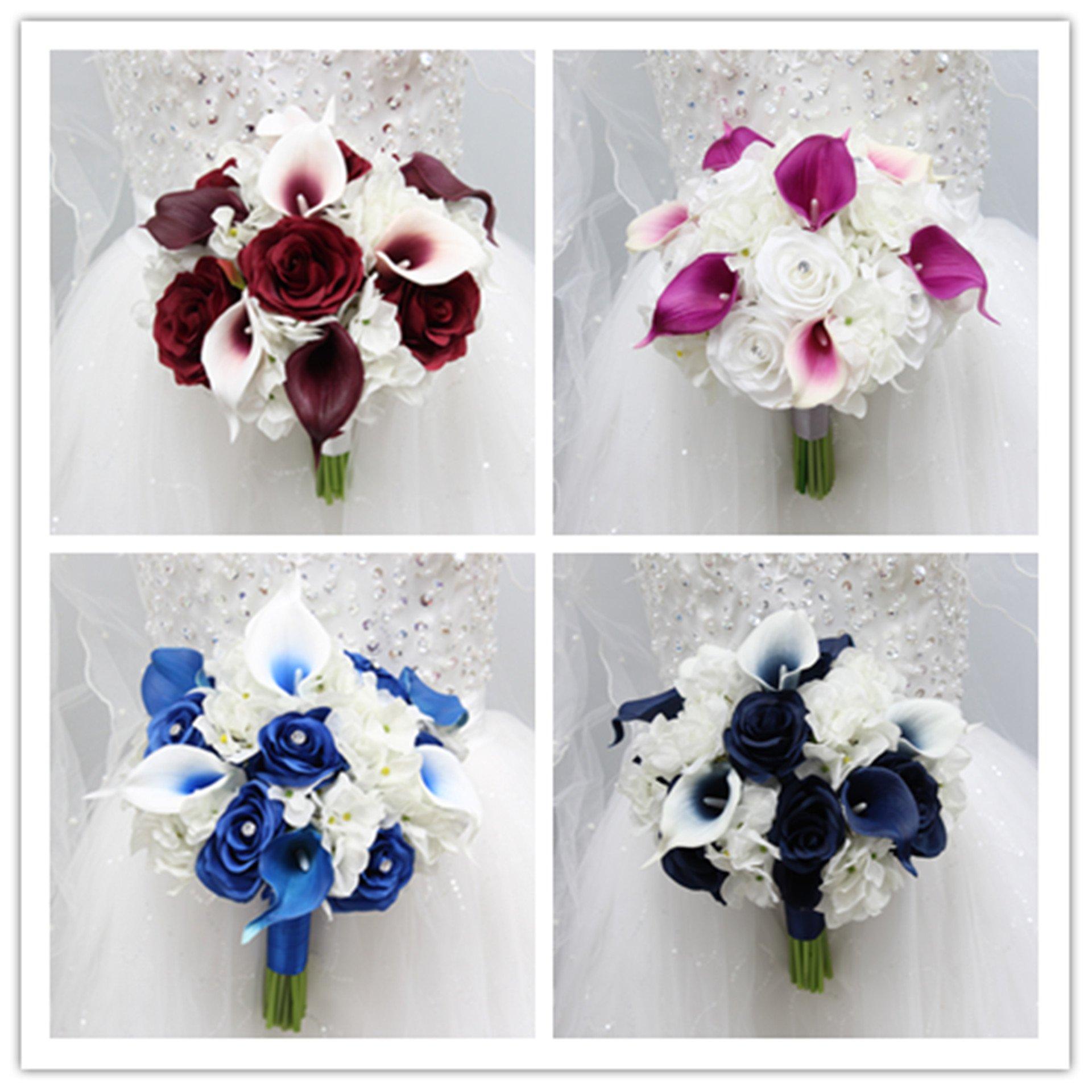 Angel Isabella Beautiful Hand Tied Bouquet Hydrangea Rose Calla