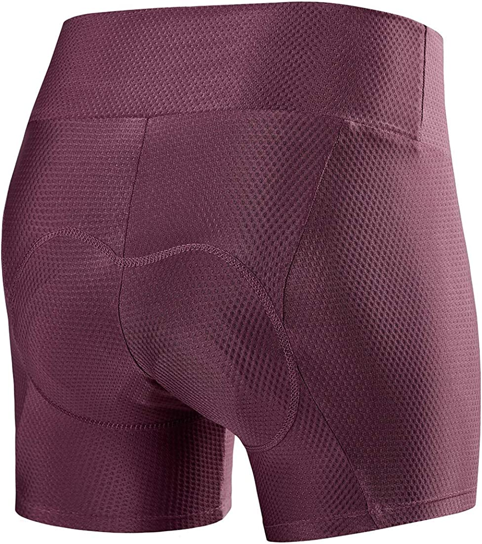 XGC Womens Quick Dry Cycling Underwear Shorts with High-Density High-Elasticity and Highly Breathable 4D Gel Padded