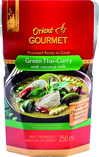 Orient Gourmet, Salsa de curry - 12 de 250 ml. (Total 3000 ml