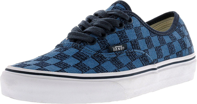Vans Unisex-Erwachsene Authentic Low-Top  9.0|(Stitch Checkers) Blue Mi