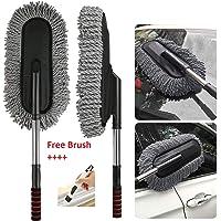 TOUA Microfiber Flexible Car Cleaning Duster Car Wash Dust Wax Mop Car Washing Brush