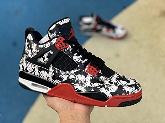 new product 699b3 a964b Mr.SHOES Air Jordan 4 Retro Tattoo Black Fire Red Black White (UK India -  9)  Buy Online at Low Prices in India - Amazon.in