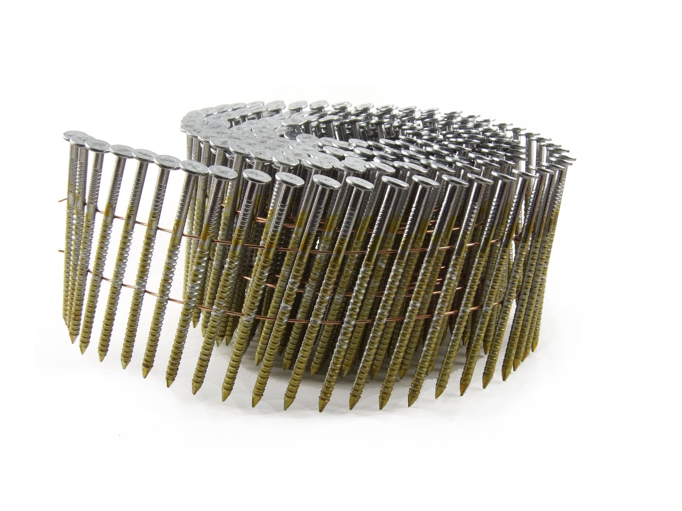 B&C Eagle 3X120HDRC Round Head 3-Inch x .120 x 15 Degree Hot Dip Galvanized Ring Shank Wire Collated Coil Framing Nails (2,500 per box)