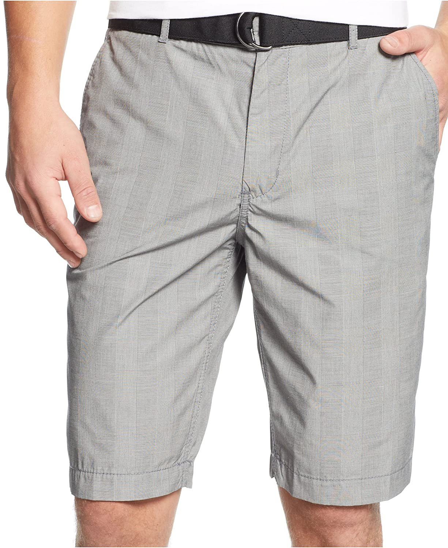 fbc51c92de7 best Alfani Men s Flat Front Checked Shorts - begbil16.mrf.se