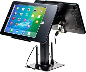 CTA Digital: Security Kiosk Dual Stand for iPad Gen. 5-6, iPad Pro 9.7, and iPad Air, Black