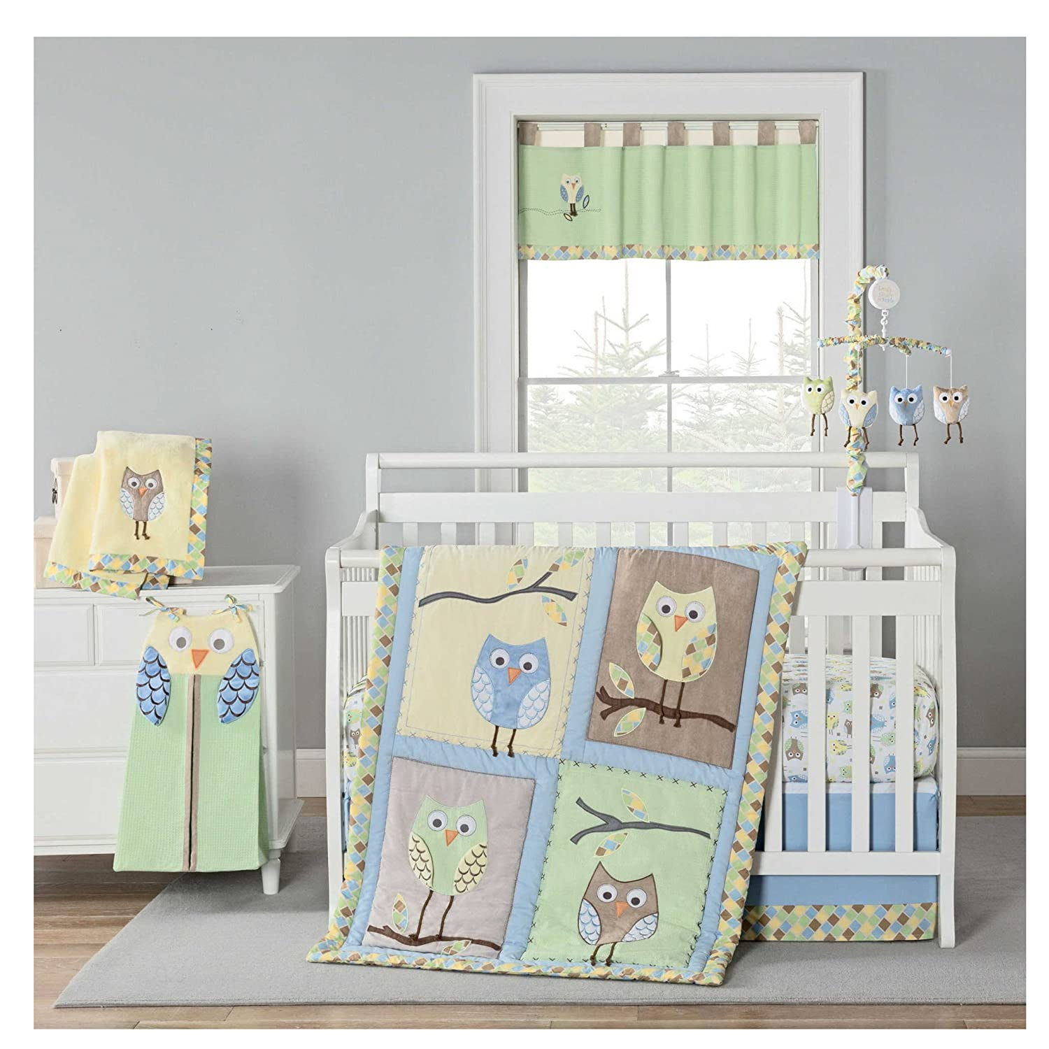 Baby Bedding Honest Baby Bedding Set Bumper Cotton Carton Print Soft