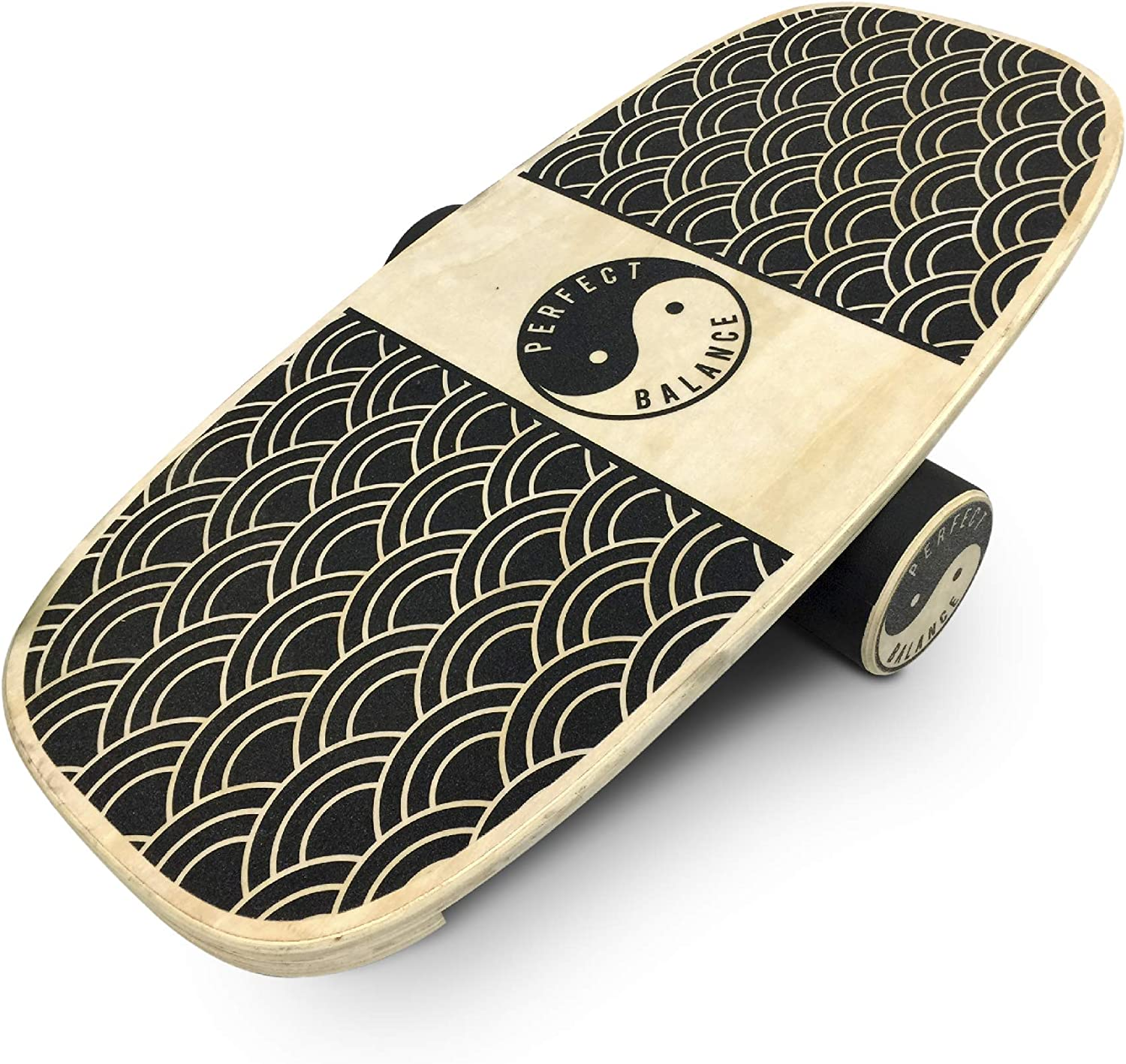 EasyGoProducts Perfect Balance Board Wooden Trainer for Fitness, Surfing, Snowboarding, Skateboarding, Skiing and Exercise