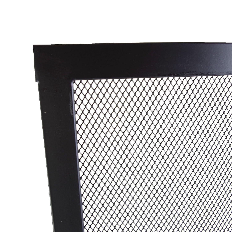 66 x 61 cm, Color Negro, 67 x 61 x 1 cm Parasol para Chimenea Perel BB50111