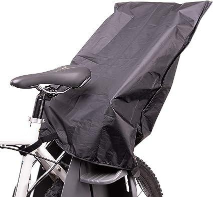 Zamboo Protector Lluvia Silla de Bicicleta para niños trasera / Cubierta Universal Portabebe Bicicleta / Funda impermeable Asiento infantil Bicicleta - Negro: Amazon.es: Bebé