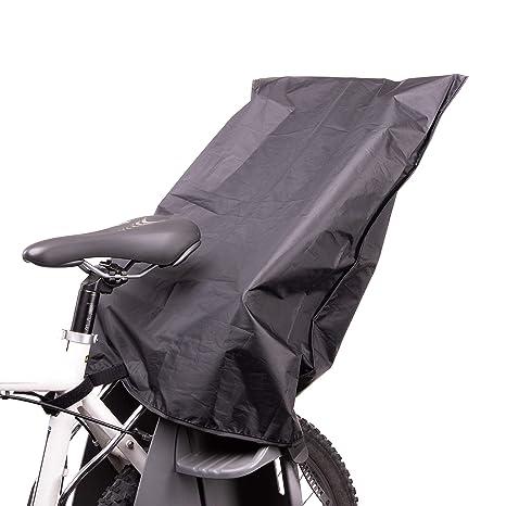 Zamboo Regenschutz Für Fahrradkindersitz Wasserdichte Abdeckung Regenhülle Für Kinder Fahrradsitz Hinten Passend Für Römer Hamax Thule Etc Schwarz Baby