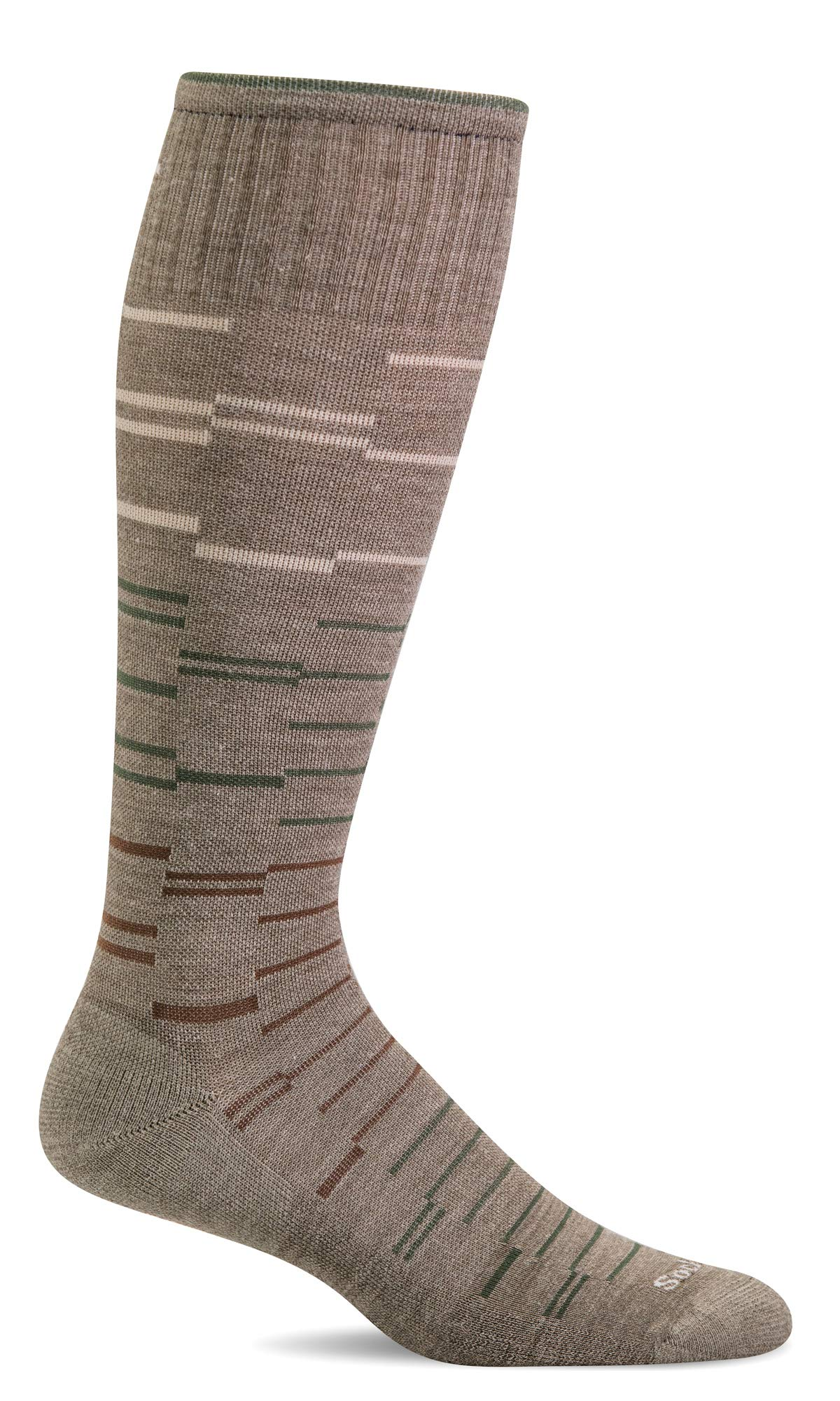 Sockwell Men's Dashing Moderate Graduated Compression Sock, Khaki - L/XL by Sockwell