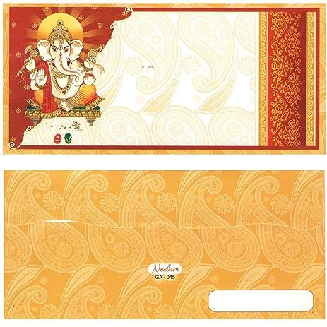 indian fancy money gift diwali shagun envelopes ganesha design 10 pack premium quality cash