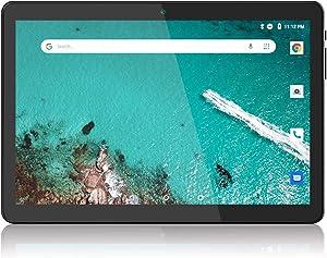 Tablet 10 inch, Android 9.0 Pie, 3G Phablet, 2GB RAM, 32GB Storage, Quad-Core Processor, Dual SIM Card Slot and Cameras, WiFi, Bluetooth - Black