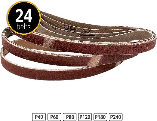 48 pi/èces en tissu Limes 13 x 8 x 457 MM Grain 40//60//80//120//180//240 /& Black and Decker