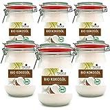 meracus Bio Kokosöl, nativ, im Bügelglas, 6er Pack (6 x 1000 ml)